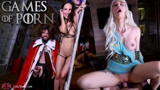 Part 1 – Games of Porn- Lilu Moon & JM Corda & Purple Bitch & KeokiStar