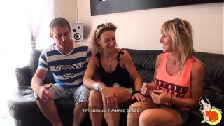 40yo milf Sylvie and Tonio, an amateur couple, wanted to shoot for the first time 15 min