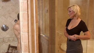 Rich Penthouse Milf picks up ripped homeless guy seduces and fucks his lights out 12 min